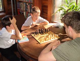 Birch Rock playing chess
