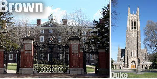 Brown University and Duke University