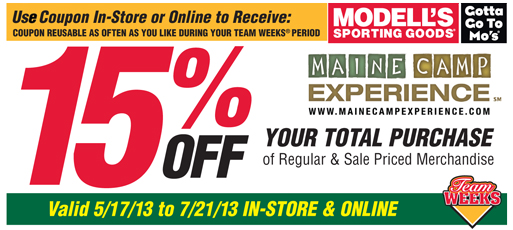 How to use a Modell's Sporting Goods coupon