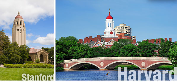 Stanford University and Harvard University