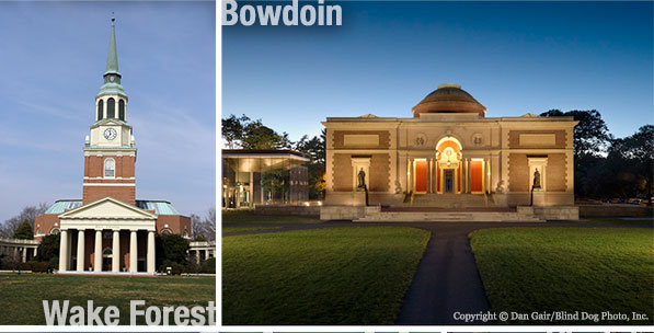 Wake Forest University and Bowedoin College